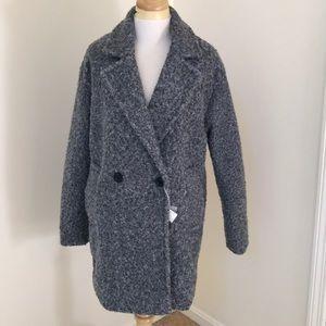 NWT!  Bershka small grey teddy jacket .